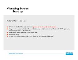 Screens Feeders Maintenace Sandvik