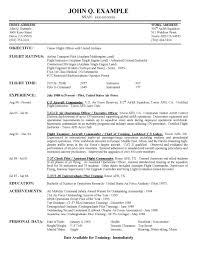 Pilot Resume Badak Commercial Sample Military Template 33 Peppapp