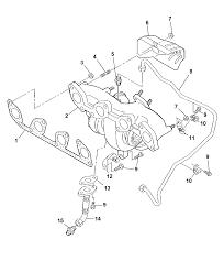 Exhaust manifold turbocharger ponents for 2007 dodge caliber rh moparpartsgiant 2007 dodge caliber exhaust system diagram 2007 dodge caliber exhaust