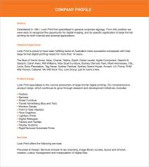 8 Company Profile Sample Free Examples Format Sample Templates