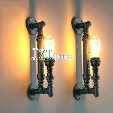 black cast iron light fittings wrought fixtures pipe fixture lights tall single indoor wall lamp lighting surprising