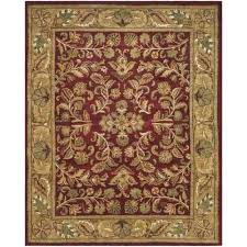 safavieh handmade heritage timeless traditional red gold wool rug 7 6 x 9 6