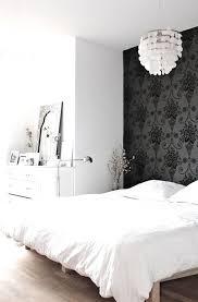 My Scandinavian Home - bedrooms - black and white bedroom, bedroom accent  wall, wallpaper