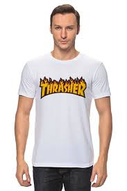 """Футболка классическая """"Thrasher"""" #2225375 от Vladec11 - <b>Printio</b>"""