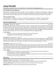 Construction Engineer Resume Fresh Project Samples Photo