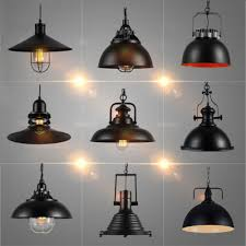 industrial contemporary lighting. Industrial Vintage Pendant Lights With E27 Edison Bulb, American Country Style Loft Iron Retro Lamp For Kitchen, Black-in Wall Lamps From Contemporary Lighting