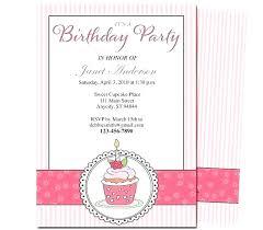 Girl Birthday Party Invitation Template Birthday Party Invitations