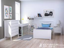 Single Bedroom Furniture Dandenong Single Bed Frame White Modern B2c Furniture