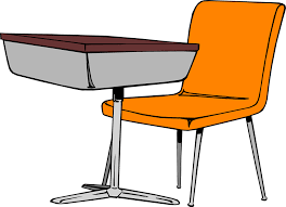classroom chairs clipart. Wonderful Clipart Desk  Free Stock Photo Illustration Of A Student Desk And Chair  Throughout Classroom Chairs Clipart W