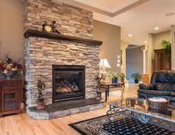 custom fireplace with summit uintah ledgestone traditional family room