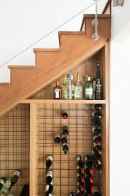 diy hanging wine rack wine cellar contemporary with small space solutions under stairs wine storage under