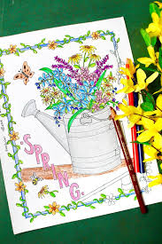 Beautiful Free Spring Flowers Coloring Page Welcome To Nanas