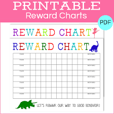 Printable Reward Charts Boy Girl The Girl Creative