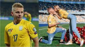 Oleksandr Zinchenko proposes to girlfriend inside 70,000 capacity stadium  in Ukraine ▷ Tuko.co.ke