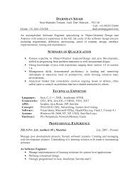 Java Resume Sample Cv Cover Letter Templates For Experienced