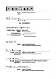 Resume Writing Template Outathyme Com