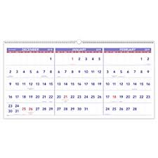 At A Glance Calendars 3 Month 15 Month Reference Horizontal Wall Calendar