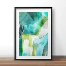 abstract art marine sea colours digital download greenery on abstract wall art set of 2 with set of 2 prints abstract art print set 2 abstract prints art to