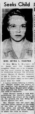 Myra Harper seeks Flora Harper, 23 Aug 1944 - Newspapers.com