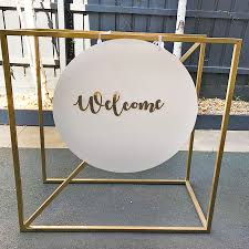 Hanging Chart Stand Gold Welcome Seating Chart Stand