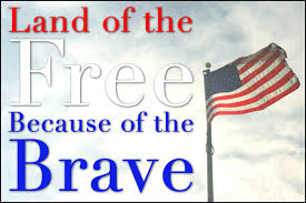 Image result for land of the free because of the brave