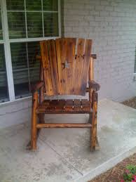 outdoor wooden rocking chair collection home made love ant unclehowies comwp rustic chairs furniture perfect for