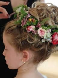 Flower Hair Style women hairstyles flower girl dresses hairstyle flower girls 8003 by wearticles.com