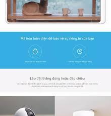 Camera giám sát Xiaomi Mi Home 360 độ 1080P l Hỗ trợ thẻ nhớ Micro SD 64GB  l Hỗ trợ kết nối wifi l HÀNG CHÍNH HÃNG