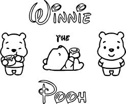 Small Picture Disney Cuties Pooh Coloring Page Wecoloringpage