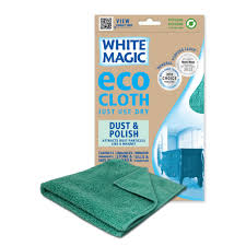 white magic microfibre dust polish eco cloth