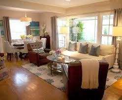 dining living room furniture. Living Room, Room And Dining Decorating Ideas With Dark Brown Sofa Beige Furniture N