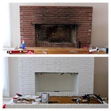 gallery of painting brick fireplace from white to beautiful brownstone acceptable paint 16
