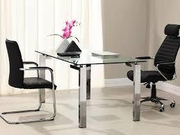 Modern Glass Desk Office Elegant Home Design