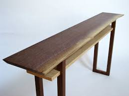 walnut console table. Live Edge Walnut Console Table- A Wood Slab Makes This Table Top Uniquely