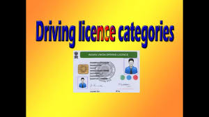 To License Youtube In India Driving Related Licence Categories - Vehicle