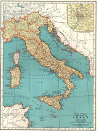 Antique Italy Map 1937 Vintage Map Of Italy Gallery Wall Art Library