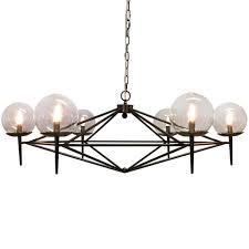 lighting globes glass. Modern Pyramid Glass Globes Chandelier Mid Century Lighting
