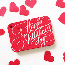 Amazon.com: 36 Red Valentine Gift Tags. Happy Valentine's Day Gift Wrap  Tags (RR-326-RD): Handmade