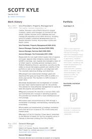 Vice President, Property Management Resume samples