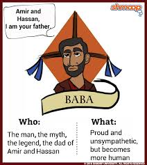 baba in the kite runner chart baba