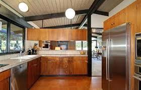 mid century modern birch kitchen cabinets ceramic