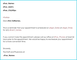 Doctor Appointment Card Template Appointment Reminder Email Template