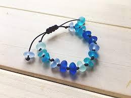 blue sea gl bracelet adjule string knot sennit bracelet sea gl jewelry beach
