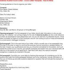 auditor external resume internal audit cover letter