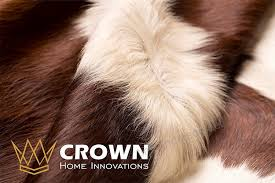 6ft x 7ft brown and white cowhide rug cowhide area rugs by crown home innovation 100