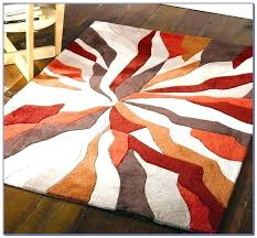 red grey rug gray and orange area burnt rugs navy