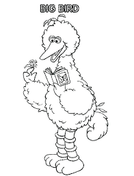 Free Printable Coloring Pages Sesame Street Characters Big Bird