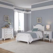 3 Piece Wood Twin Bedroom Set in White - 5543-4021