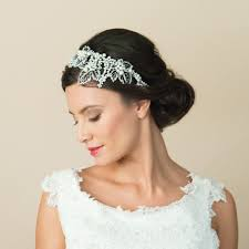 Hairband Hairstyle selena pearl & crystal statement leaf design hairband miss white 8452 by wearticles.com