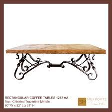 Iron And Stone Coffee Table Coffee Rectangular Table Iron Base Chocolate Finish Mesquite Free